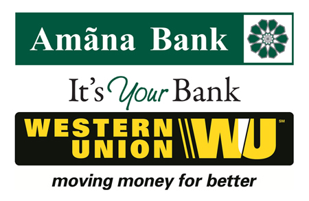 Amãna Bank Offers Western Union Money Transfer Services