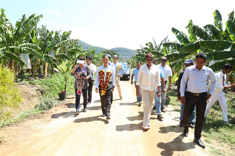Japanese Ambassador to Sri Lanka visits Dole farm in ...